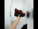 Туфли на шнурках =INFINITY= марсала