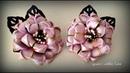 Flower Kanzashi DIY Канзаши Школьные резиночки украшения для принцесс Гильоширование