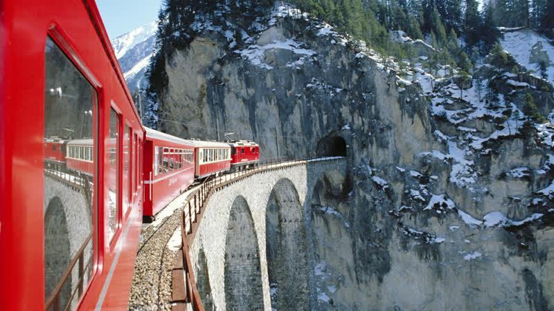 Glacier Express. «Ледниковый экспресс» по горам Швейцарии.