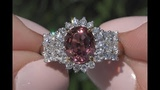GIA 3.56 tcw VVS Clarity Top Gem Unheated Pink Spinel &amp Diamond Cocktail Ring 14k Gold C1003