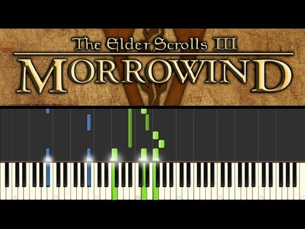 Morrowind (Piano Tutorial - Synthesia) - Call of Magic/Nerevar Rising: Main theme ( sheets)