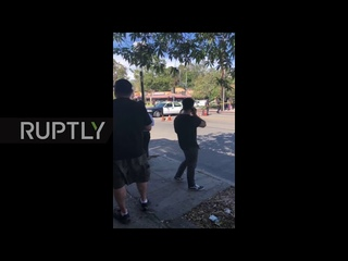 USA: Police engage in standoff with suspect barricaded in LA Trader Joe's
