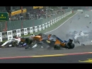 Формула-1 2018 Гран при Белигии Гонка - Зрелищная Авария на старте