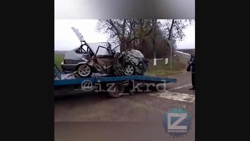 Страшная авария под Краснодаром, погибло 6 человек. Наша группа в ВК Горячий Ключ 24.