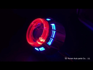 2.5 inch Bi-xenon Projector Lens with double LED optical shrouds