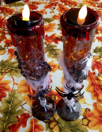 Halloween Candle Holders (DIY – Dollar Store) 💀