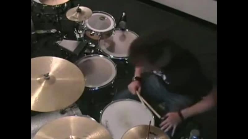 Как играть двойную бочку одной ногой Майк Джонстон mp4