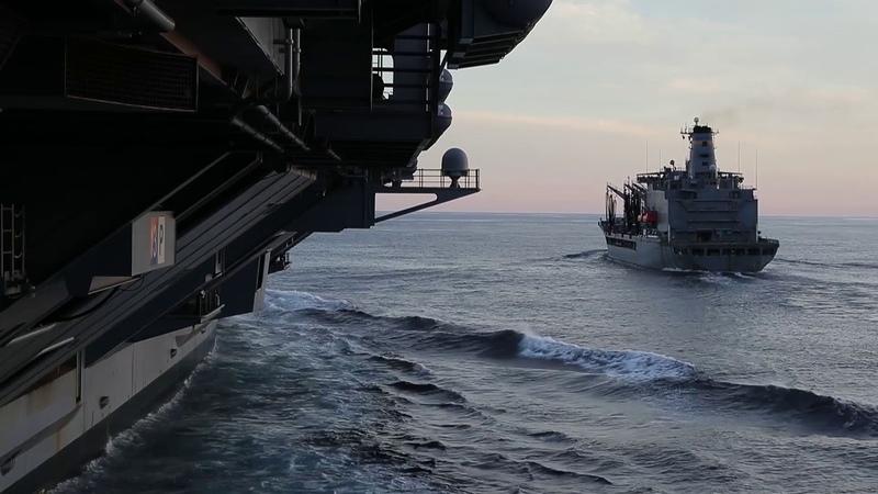 USS Gerald R. Ford Replenishment At Sea