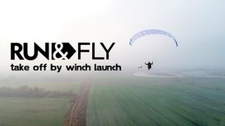 !!NEW!! Dudek Run&Fly take off by winch launch - Jean-Baptiste Chandelier in Poland