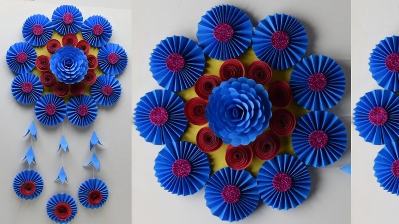 DIY home decoration idea u should try   How to make an awesome wall hanging out of papers  