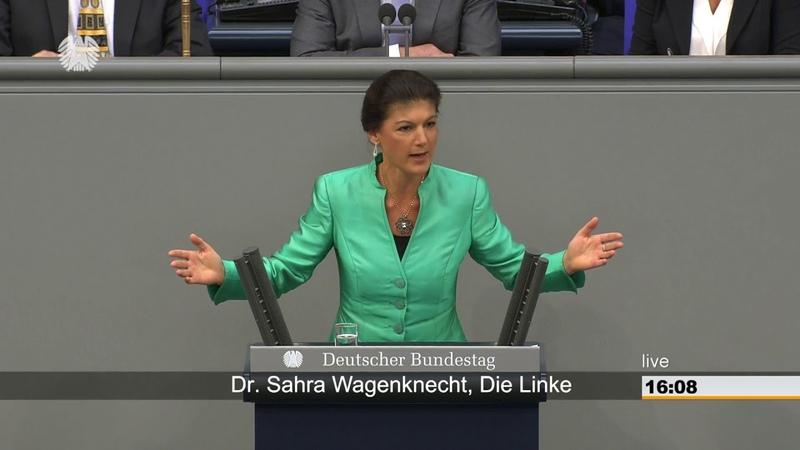 Sahra Wagenknecht, DIE LINKE: »Sie haben die Mehrheit enteignet«