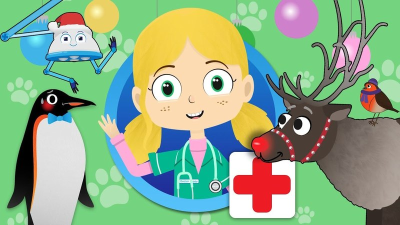 Rudolph The Red Nosed Reindeer Visits Dr Poppy's Pet Rescue | Christmas Animals For Kids