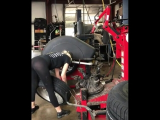 Just a female mechanic working
