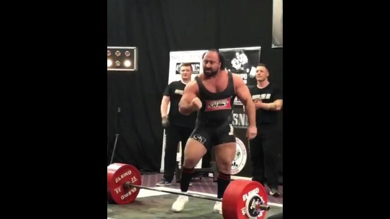 Захир Худояров - тяга 390 кг (124 кг)