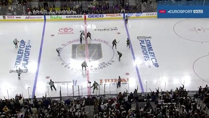 NHL 17/18, SC, WC: Round 1, Game 2. Los Angeles Kings - Vegas Golden Knights [13.04.2018, Eurosport Gold, RU]