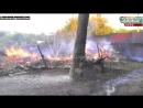 Ирмино ЛНР.14 августа,2014.Горят постройки после обстрела города украинскими военными преступниками.