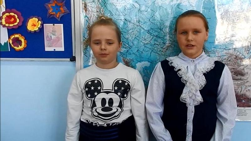 Участницы акции Живая вода - Чорнобай Снежана и Клавшун Татьяна, 4 класс Туровецкой школы Междуреченского района.
