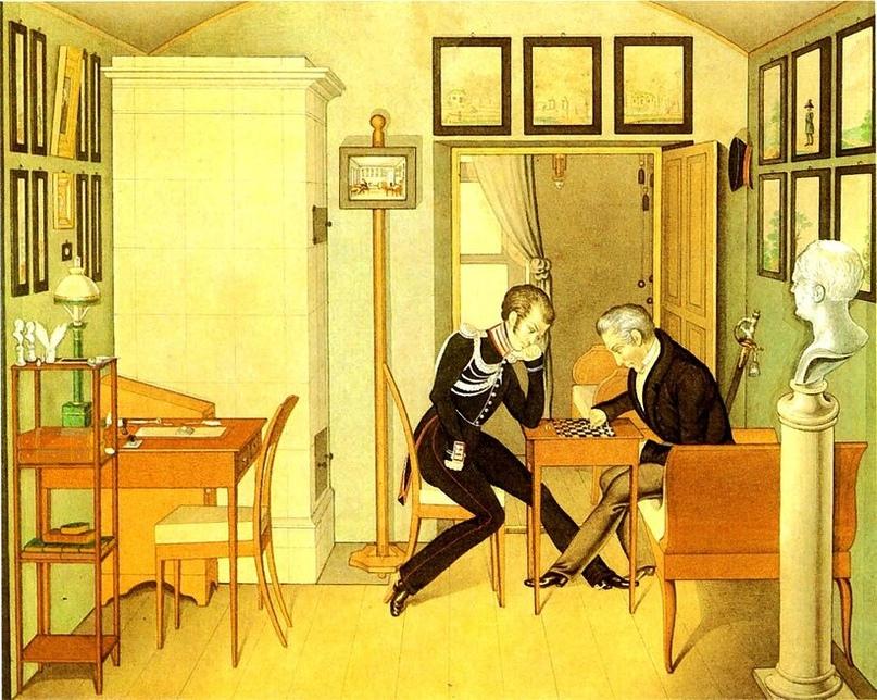 Приемная графа А.Х. Бенкендорфа. Неизвестный художник. Конец 1820-х годов.