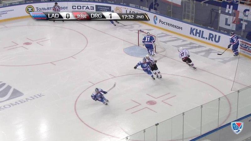 Моменты из матчей КХЛ сезона 14/15 • Сэйв. Эрикссон Юаким (Динамо Р) спокойно сыграл 05.10