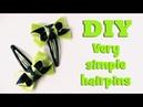 DIY very simple hairpins Kanzashi tutoial