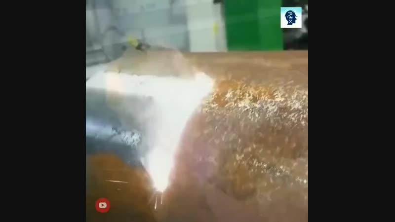 Удаление ржавчины с металла с помощью лазера