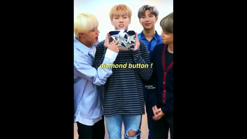 STOP he's so cute jumping around with their diamond button