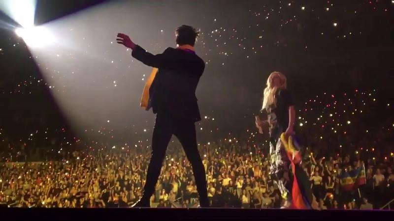 Hayley Kiyoko joins Brendon Urie on stage to perform Girls Girls Boys