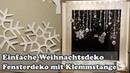 DIY Fenster Weihnachtsdeko mit Gardinenstange Christmas window decoration