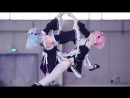 Cosplay and aerial dance of Ram Rem by Tz-cotortion