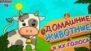 Развивающий мультик для детей. Учим животных. Как говорят животные.