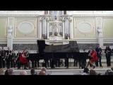 Раймонд Паулс. Полюбите пианиста. Кустова Настя, Савченко Катя и духовой оркестр.