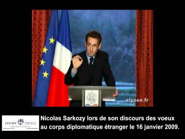 Discours sur le Nouvel Ordre Mondial de Nicolas Sarkozy le 16 janvier 2009.