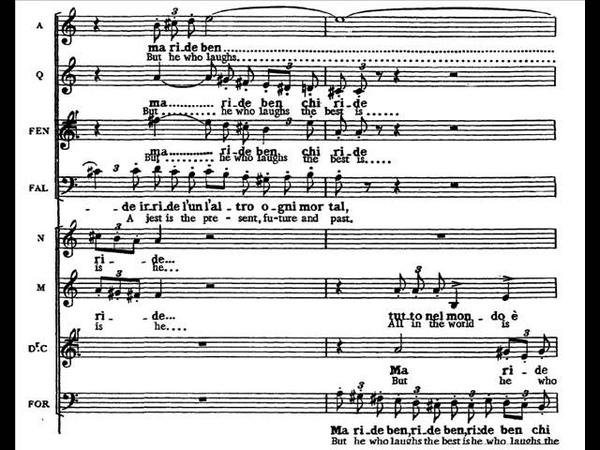 Verdi - Falstaff - Fuga finale Tutto nel mondo è burla (score)