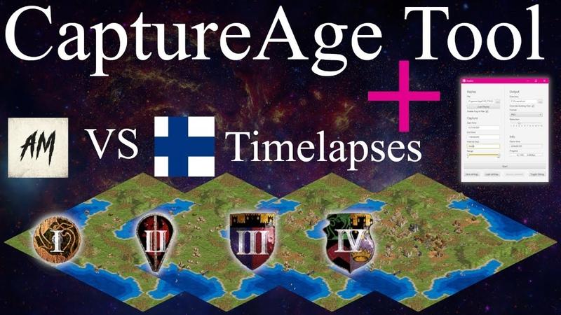 AoE II Timelapse REVOLUTION! CaptureAge Tool Short Intro ( Am vs Suomi ECL)