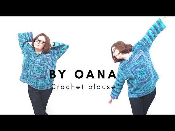 Crochet granny variation blouse by Oana