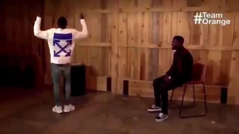 Dembele imitating Messi