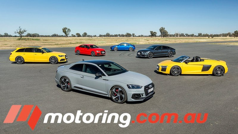 Audi RS3, TT RS, RS5 Coupe , RS6 Avant, RS7 Sportback R8 Spyder Track Test   motoring.com.au