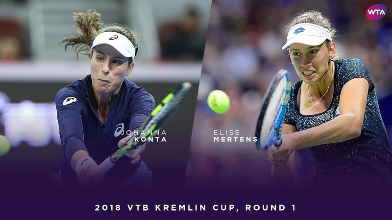 Johanna Konta vs Elise Mertens 2018 VTB Kremlin Cup Round One WTA Highlights
