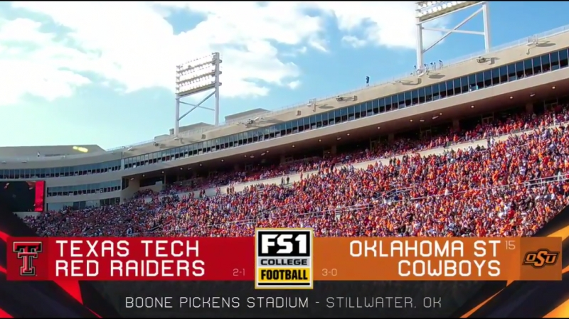 NCAAF 2018 / Week 04 / Texas Tech Red Raiders - (15) Oklahoma State Cowboys / 1Н / EN