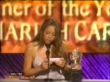Mariah Carey wins the Aretha Franklin Entertainer Of The Year Award at Lady of Soul Awards 1998