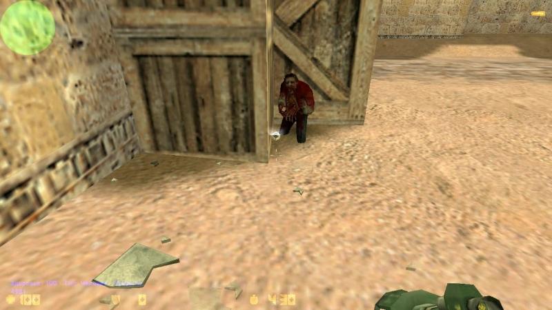 Снаряд базуки не проводит урон через стены.