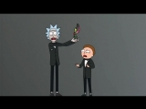 Rick and Morty presenting at the Emmys