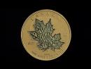 Золотая монета Канады 40 лет монете Кленовый лист