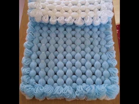 Pom pom blanket - MAKE A LOOP EDGE. - My FASTEST blanket to make if you cut a fringe)