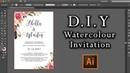 DIY Watercolour Flower Invitation tutorial How to make professional invitations using Illustrator