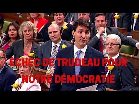 Échec de Trudeau pour notre démocratie Andrew Scheer