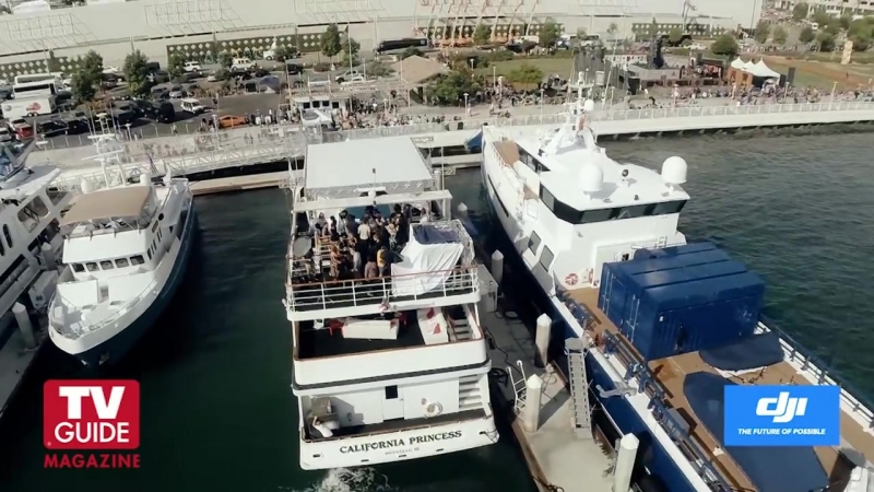 Drones invade Game of Thrones on the TV Guide Magazine Yacht!