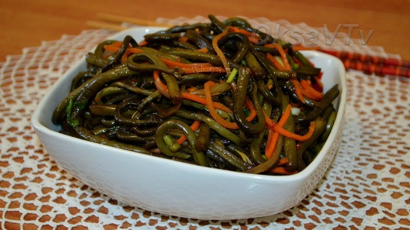 Салат из папоротника по - китайски(蕨沙拉, Jué shālā). Fern salad. Chinese food.