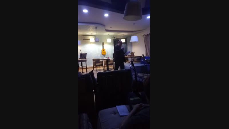 Мое выступление на поэтическом вечере в кафе Небо