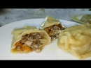 Манты с тыквой и мясом цыганка готовит. Gipsy cuisine.